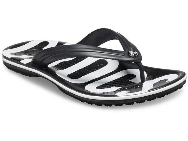 Crocs Crocband Printed Sandalias, black/white